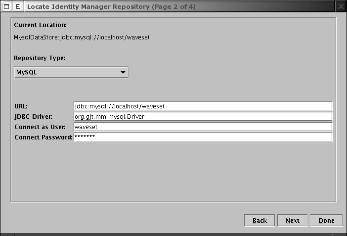 Locate IDM Repository