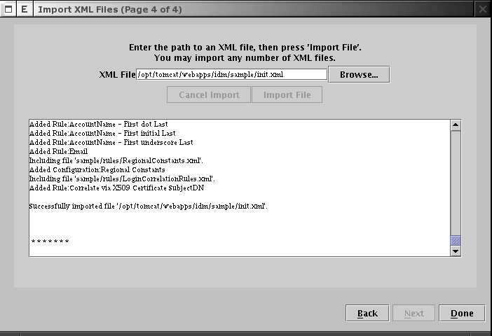 Import XML Files